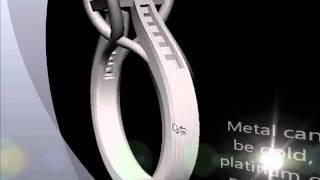 M54334c Custom Emerald Cut Engagement Ring With Trellis Design