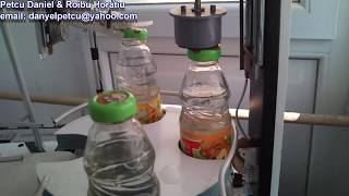 PLC Student Project - Automatic bottle filling and capping machine
