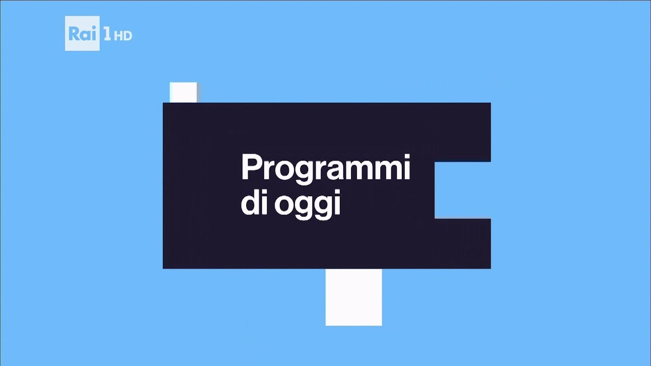 Rai 1 hd cartello programmi di oggi 2016 2018 youtube for Free programmi