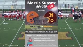HD Football Broadcast:  Madison vs Mt Lakes 9.8.2018