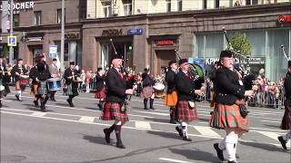 """The Irish band """"Le Cheile Sa Cheol"""" at the Festival """"Spasskaya Tower"""" (Military tattoo) 2014 Part 4"""
