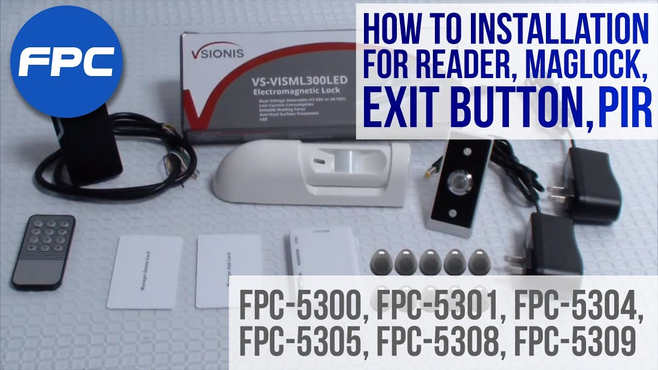 how to wire outdoor reader magnetic lock exit button request to exit pir kit [ 1280 x 720 Pixel ]
