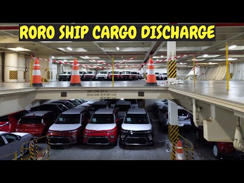 Roro Ship car ship vessel discharge vehicle unloading proces