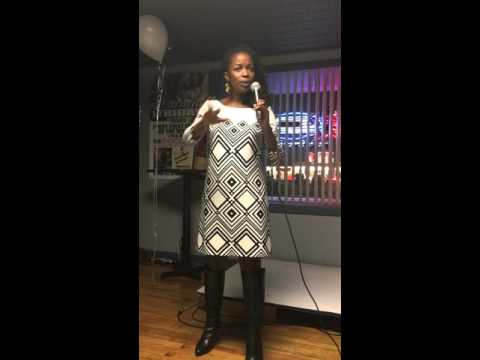"""Lynnette Johnson performing her poem """"Crickets"""" at her """"Only Love Can Do That"""" Book Signing Event"""