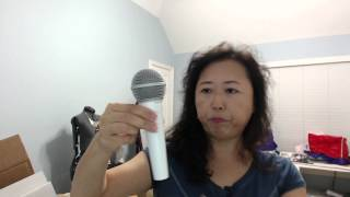 shure sm48 dynamic microphone unboxing