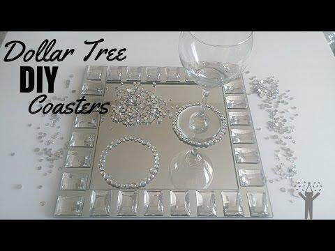 DIY Dollar Tree Bling Coasters💎