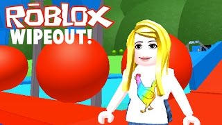 Sarah Plays Roblox- I Cheat Playing the Wipeout Obby!
