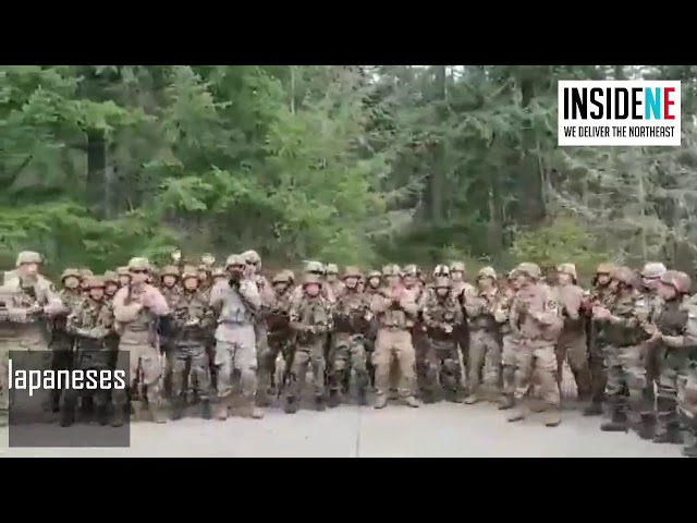 Indian and American Soldiers Sing and Dance to Assam Regiment's Marching Song, Video Goes Viral
