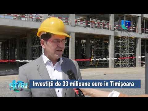 Investiții de 33 de milioane de euro în Timișoara