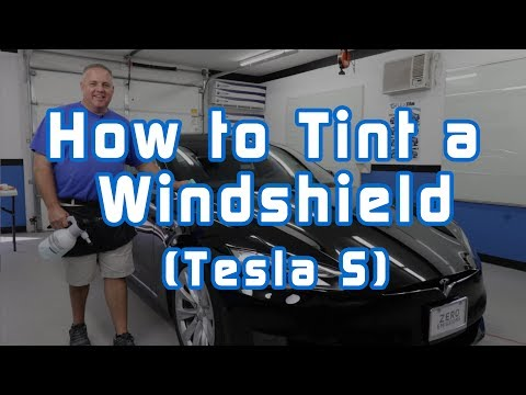 How to Tint a Windshield (Tesla S)