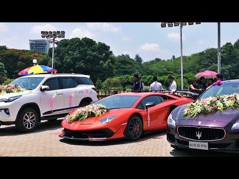 Indian Millionaires Wedding -  LAMBORGHINI GIFT? Rolls-Royce, Maserati & More