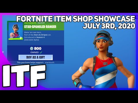 Fortnite Item Shop FOURTH OF JULY SHOP! [July 3rd, 2020] (Fortnite Battle Royale)