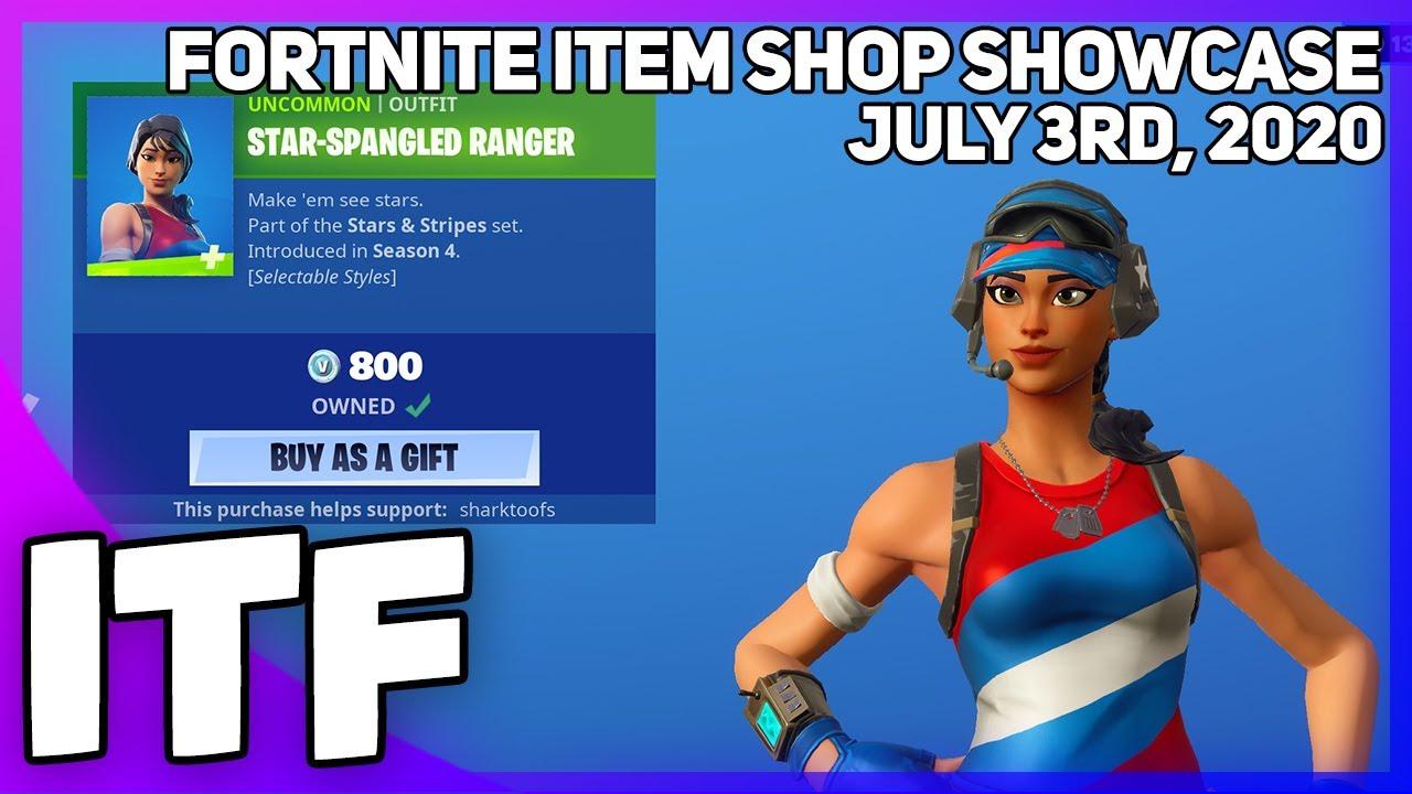 Fortnite Item Shop FOURTH OF JULY SHOP! [July 3rd, 2020] (Fortnite Battle Royale)