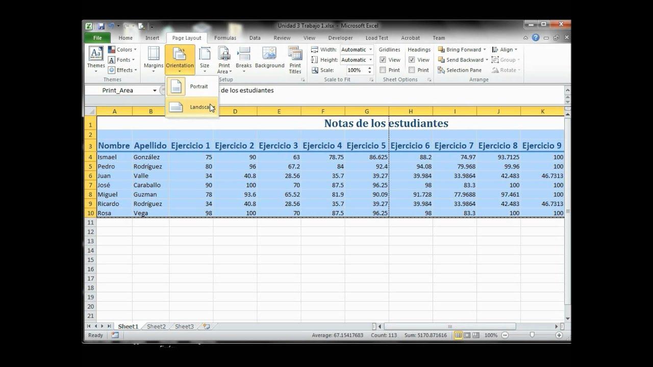 Configurando una hoja de cálculo de Excel para impresión - YouTube
