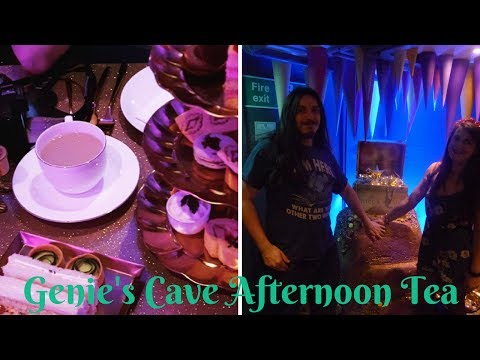Genie's Cave Aladdin Afternoon Tea at Cutter & Squidge