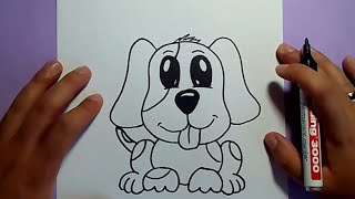 Como dibujar un perro paso a paso 23 | How to draw a dog 23