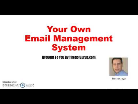 Your Own Email Management System  - System Requirements