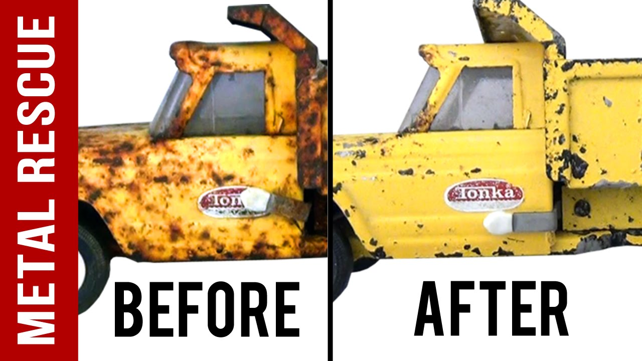 How To De Rust Antiques Metal Toy Tonka Truck Time Lapse