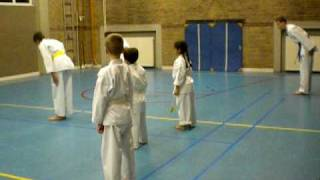 My first lesson of Karate