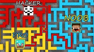 Minecraft Battle: NOOB vs PRO vs HACKER: MAZE SURVIVAL PART 4 in Minecraft MAP!