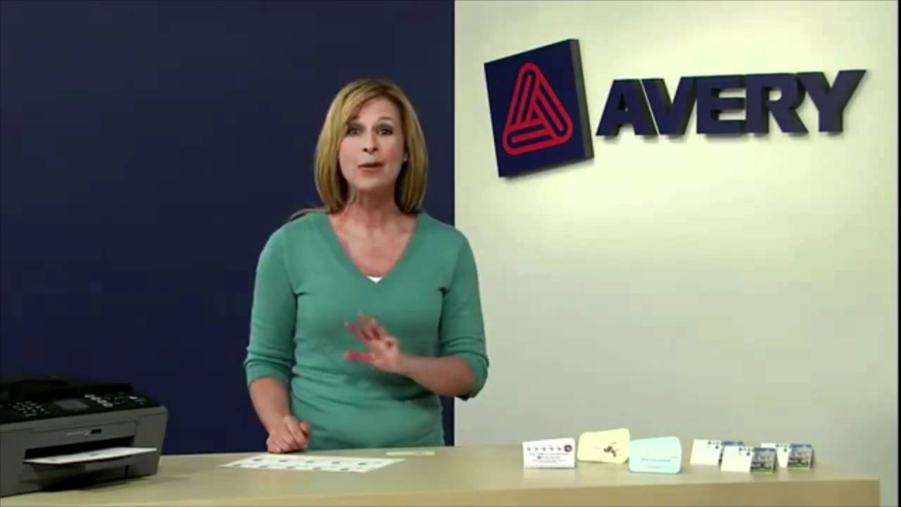 Avery clean edge business cards youtube avery clean edge business cards reheart Images