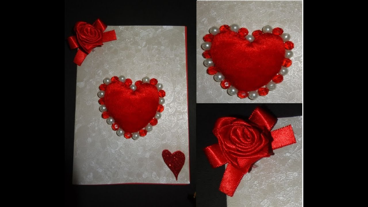 Paper Crafts How to make a beautiful Valentines Day heart – Beautiful Valentines Cards