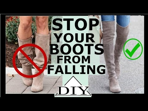 How to stop over the knee boots from falling | SHANiA