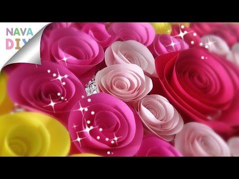 ทำดอกกุหลาบใน 3 นาที  พับดอกกุหลาบกระดาษใช้ตกแต่งบอร์ด  Paper Rose