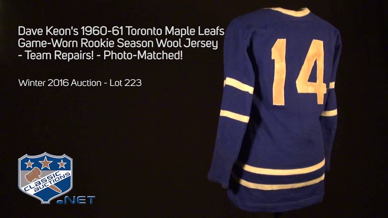 0352fa83407 Lot Detail - Dave Keon's 1960-61 Toronto Maple Leafs Game-Worn Rookie  Season Wool Jersey - Team Repairs! - Photo-Matched!