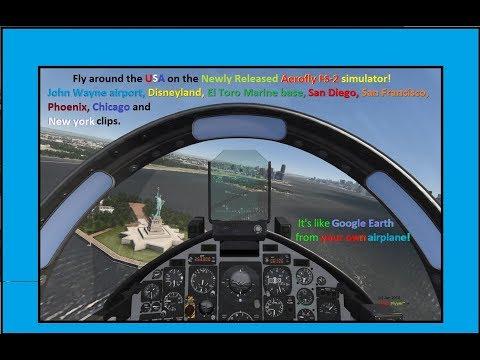 Newly Released AeroFly FS-2 Full Scale flight Simulator. USA, San Fran, San Diego, New York, etc.