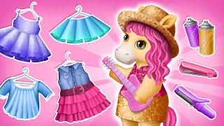 Pony Guitarist Molly's Makeover! Pony Sisters Pop Music Band | TutoTOONS Cartoons & Games for Kids