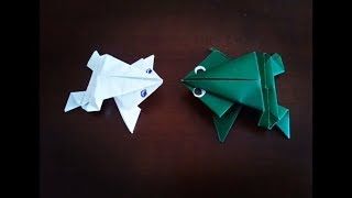 ОРИГАМИ. ЛЯГУШКА ИЗ БУМАГИ за минуту. DIY paper frog.