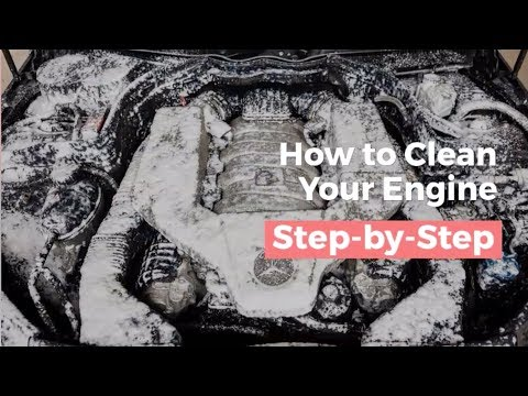 A step-by-step guide to cleaning any engine bay