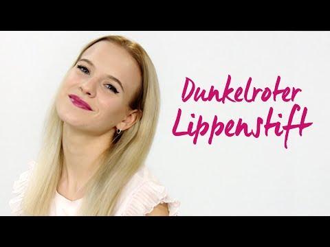 """Dunkelroter Lippenstift: Lippen Make up – für """"Mein schönstes Ich"""""""