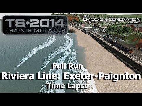 Riviera Line: Exeter-Paignton Full Run - Time Lapse - Train Simulator 2014