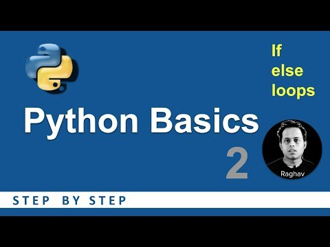 python-beginners-tutorial-|-if-else-loops|-basic-programming-2
