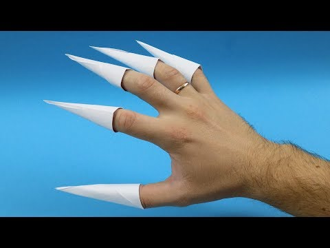 How to make Origami Paper Claws - EASY