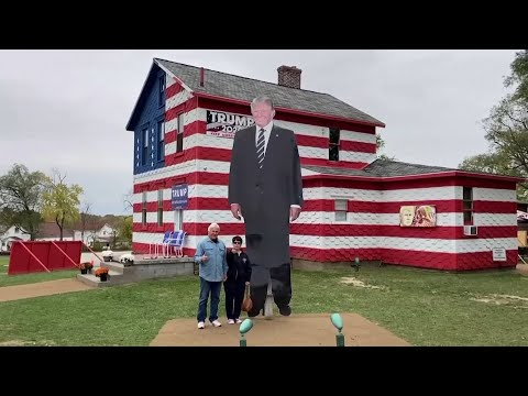 Republican voters gather at 'Trump House' in Pennsylvania