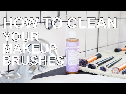 How to clean your makeup brushes - BEAUTY BASICS - Dr Bronners