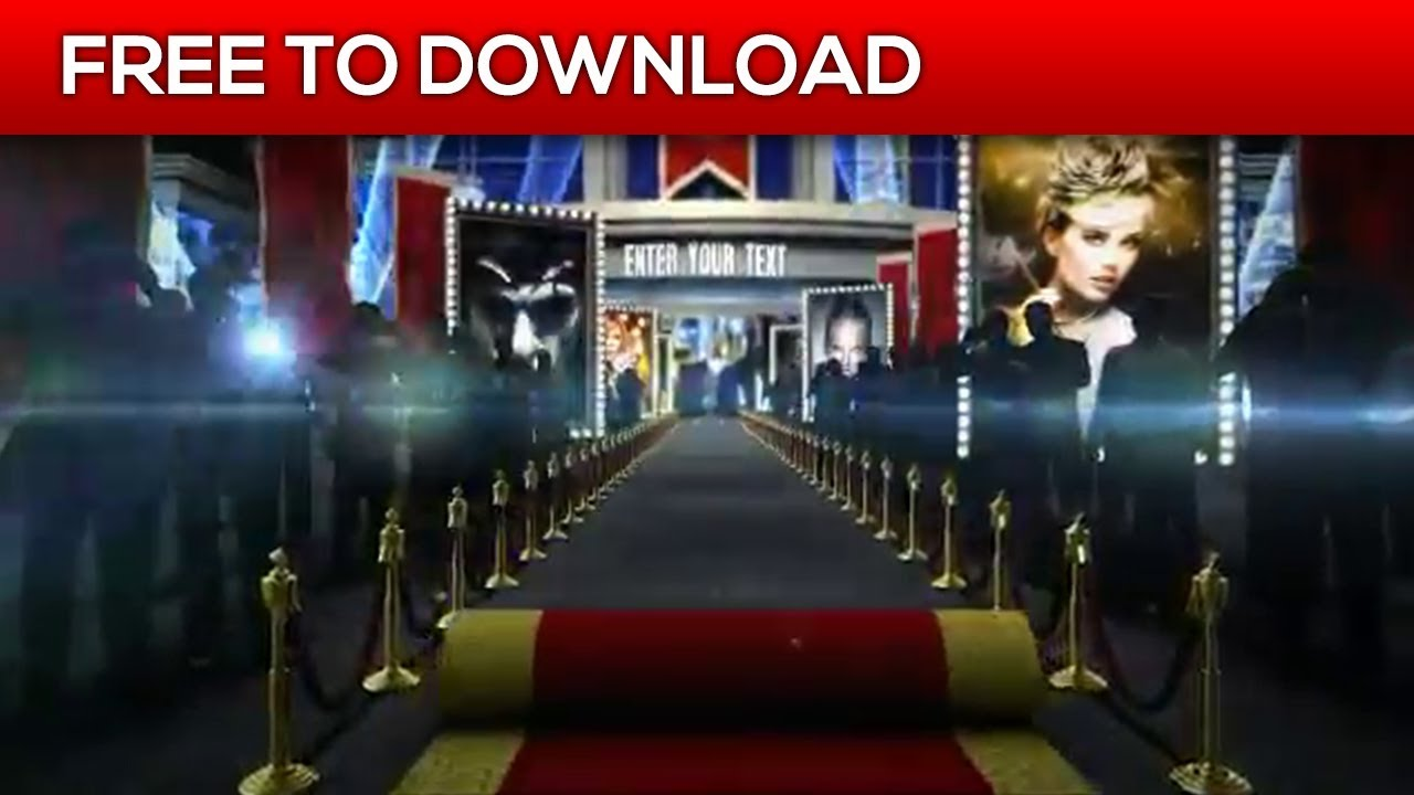 Red Carpet After Effects Template Free