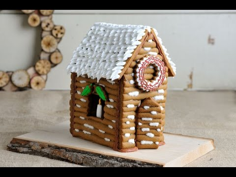 Christmas gingerbread log house hanielas youtube christmas gingerbread log house hanielas maxwellsz
