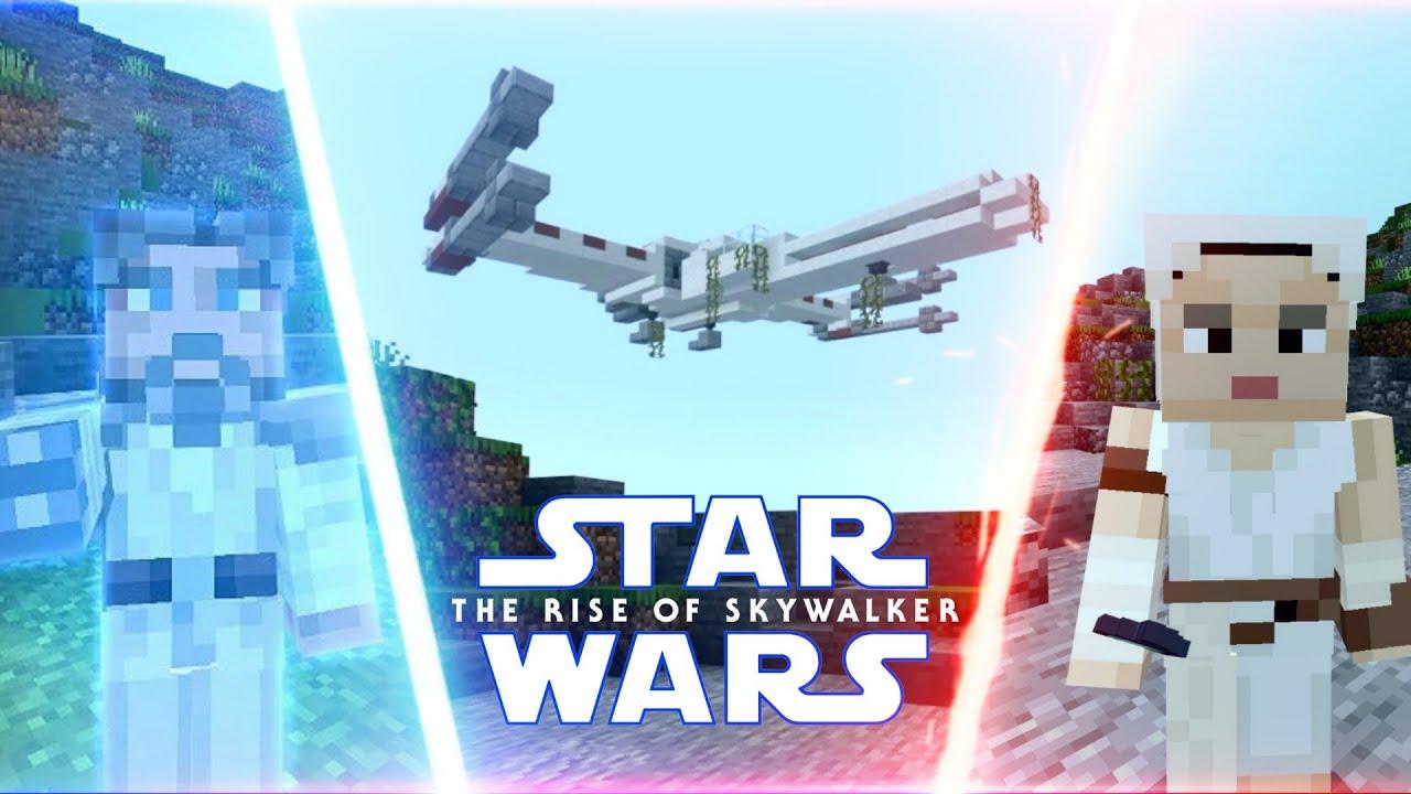 Minecraft Star Wars Luke Lifts X Wing Scene Recreation The Rise Of Skywalker Youtube