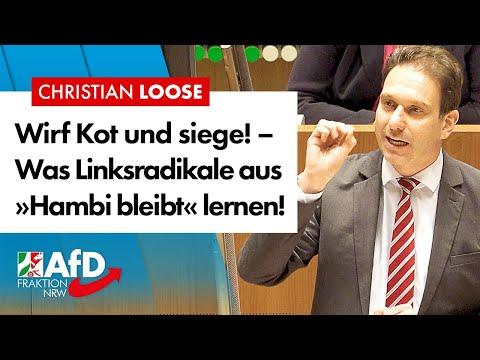 """Lehre aus """"Hambi bleibt"""": Wirf Kot und du gewinnst! – Christian Loose (AfD)"""