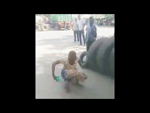 African Woman Ninja blow your mind watch