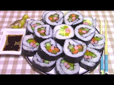 Как Приготовить Корейские Роллы Кимпаб(김밥)в Домашних Условиях Пошаговый Рецепт.
