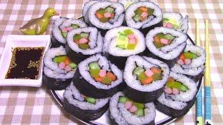 Как Приготовить Корейские Роллы Кимпаб 김밥 в Домашних Условиях Пошаговый Рецепт