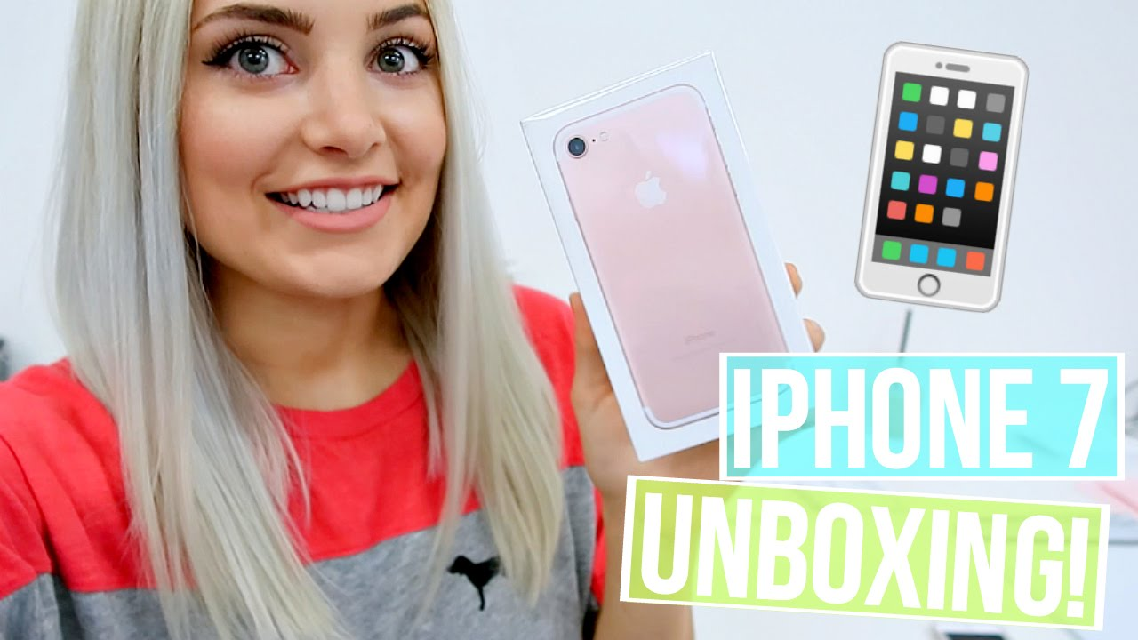 rose gold iphone 7 unboxing review youtube. Black Bedroom Furniture Sets. Home Design Ideas