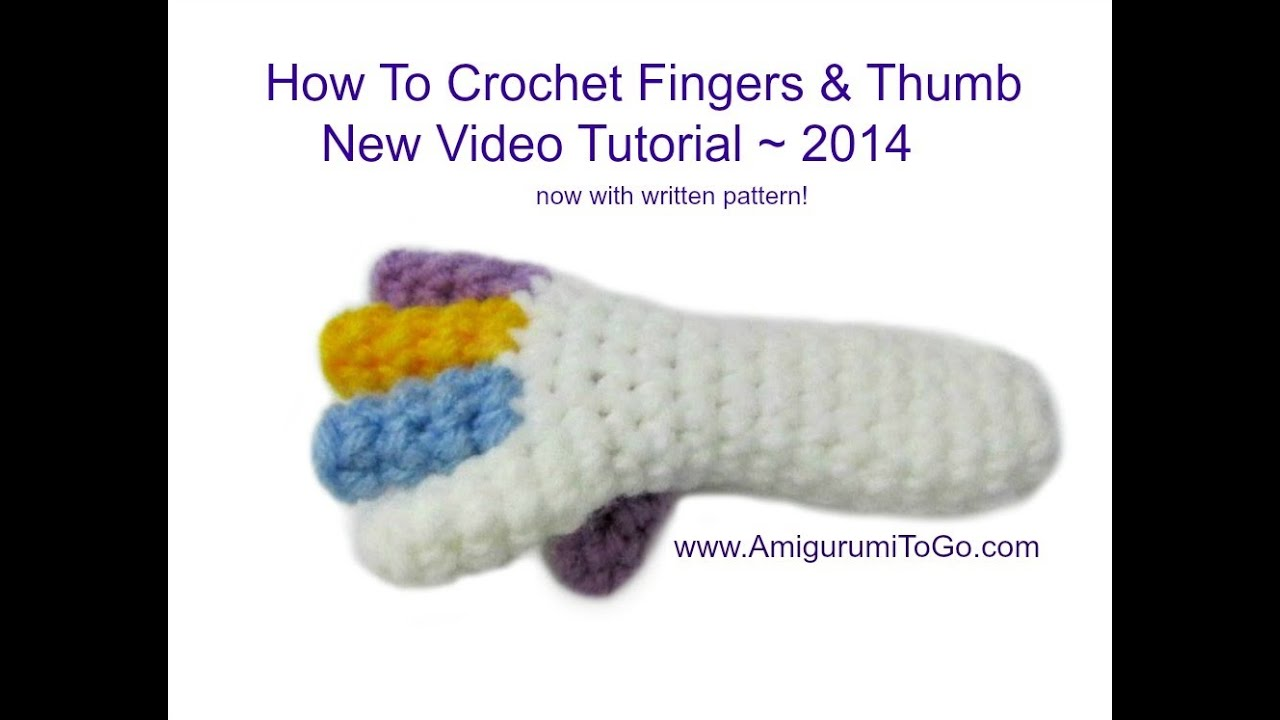 Youtube How To Crochet : How To Crochet Fingers - YouTube