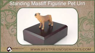 Standing Mastiff Figurine Pet Urn