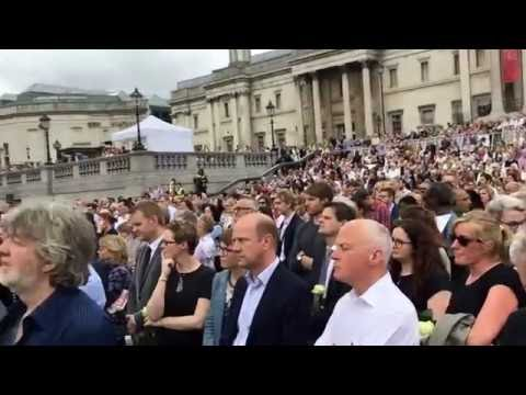 Lily Allen sings Somewhere Only We Know for MP Jo Cox Tribute | Trafalgar Square | 22.06.16